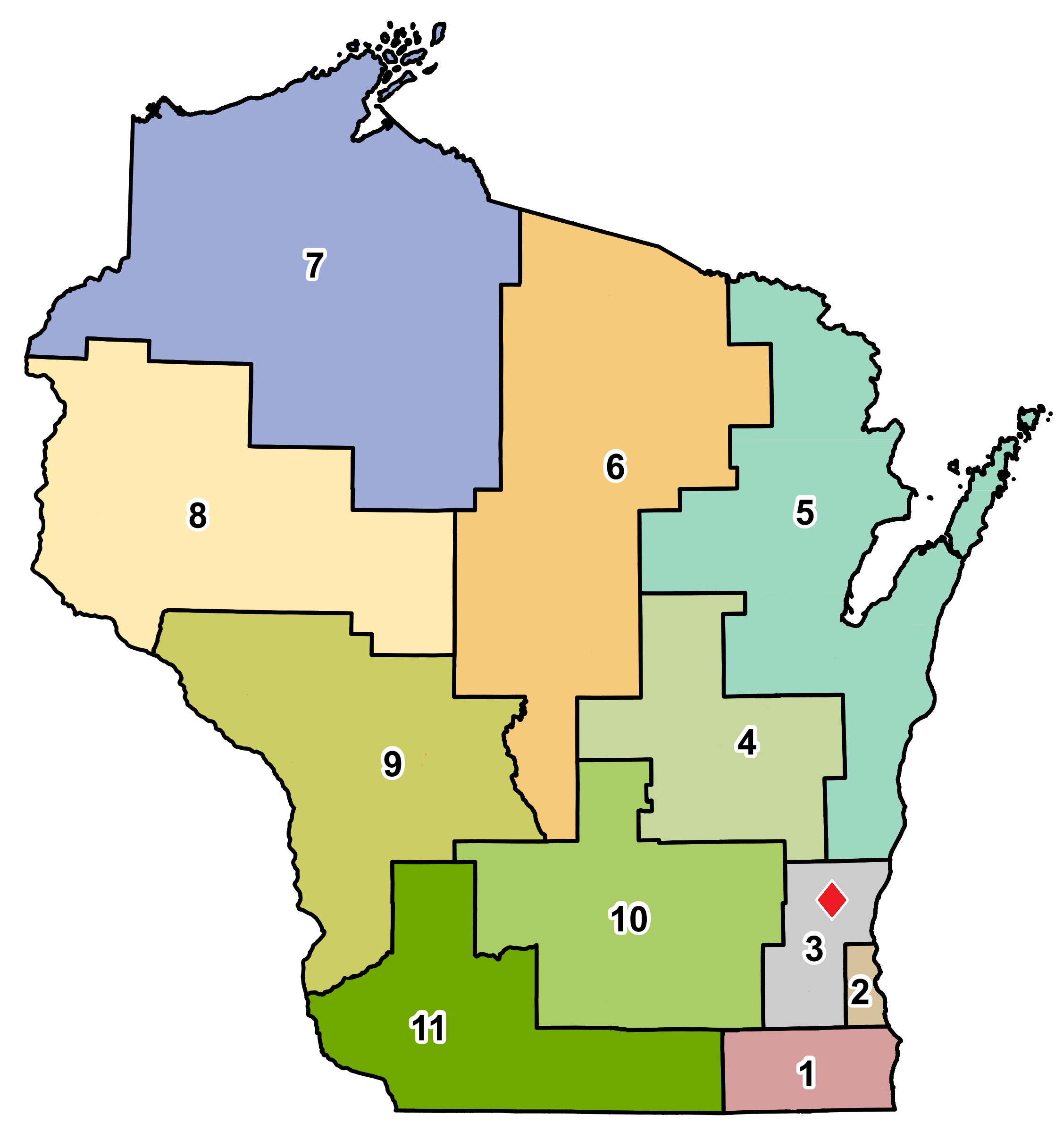 map showing location of West Bend